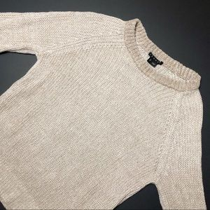 THEORY Brombly Sweater Linen Blend Knit Crewneck